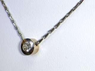 Classic Round Brilliant Diamond Solitaire Pendant Necklace White Gold