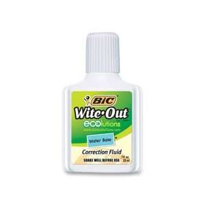 Bic Wite Out Brand Water Based Correction Fluid: Office Products