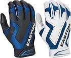 Easton Omen Cage 2 Game 2 Pair Batting Gloves   Royal Medium