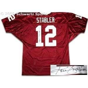 Ken Stabler signed Alabama Crimson Tide Maroon Wilson Jersey