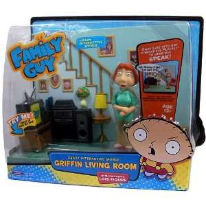 Guy Interactive Griffin Living Room [with Lois figure]: Toys & Games
