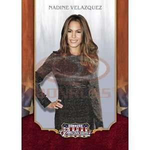 2009 Donruss Americana Trading Card # 45 Nadine Velazquez