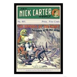 Nick Carter The Demons of the Night Giclee Poster Print, 9x12