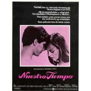 Our Time Poster Spanish 27x40 Pamela Sue Martin Betsey