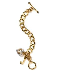 Juicy Couture Gold Tone and Pavé Starter Bracelet