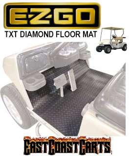 EZGO TXT 2001 Newer Golf Cart Diamond Floor Mat Black Rubber