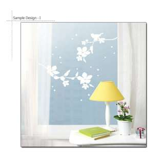 WHITE FLOWERING TREE Wall Sticker Removable Vinyl Decal