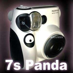 Fujifilm Instax Mini 7s Panda Instant Film Photo Camera White Polaroid