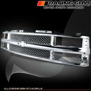 94 98 CK 1500 2500 CHEVY SILVERADO/TAHOE CHROME GRILL GRILLE PICKUP