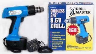 Drill Master Cordless 3/8 9.6V Drill w/ Keyed Chuck