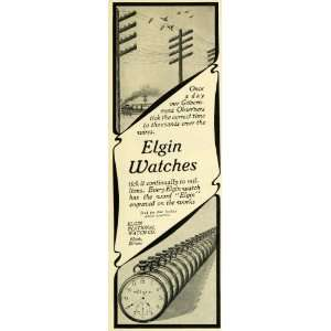 1902 Ad Elgin National Watch Stop Watch Pocket Watches
