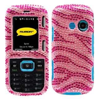 LG Rumor 2 LX265/Cosmos VN250 Pink Zebra bling case