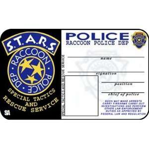 STARS ID Badge Resident Evil RPD Card: Office Products