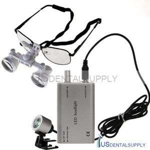 5X Surgical Dental Medical Loupes & LED Head Light Lamp