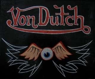 Brand New VON DUTCH Brown Motorcycle Short Sleeve Lynwood Ca Shirt XL