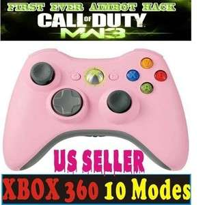 Modded XBox 360 Wireless 8mode Rapid Fire Pink Modified Controller