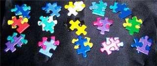 Autism Awareness Handpainted Double piece pins (12 Lot)