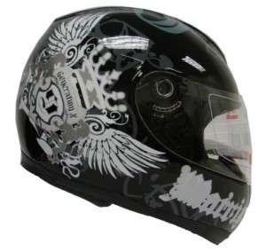 BLACK ROYAL FULL FACE MOTORCYCLE HELMET SPORT BIKE ~XXL