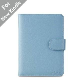 ) Classic Kindle Leather Case (Sky Blue) for 4th Generation 6 Kindle