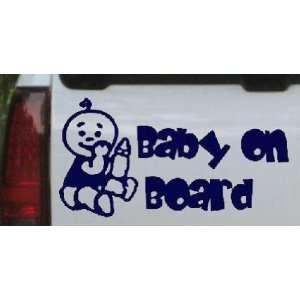 Navy 28in X 14.6in    Baby On Board (Boy) Car Window Wall Laptop Decal