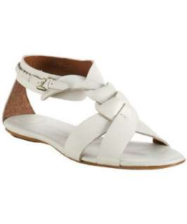 Modern Vintage white leather Fatima sandals  BLUEFLY up to 70% off