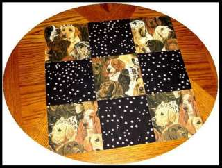 32 BIG 6 HANDSOME DOGS & PAWS Quilt Fabric Squares Kit