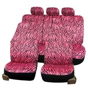 FH FB121115 Zebra Prints Car Seat Covers, Airbag ready and Split Bench