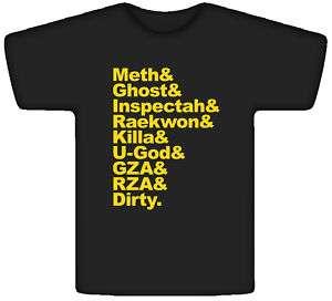Wu Tang Clan Members Rap T Shirt Black