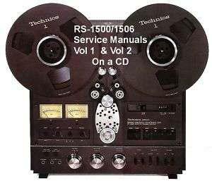 TECHNICS RS 1500US REEL TO REEL SERVICE MANUAL VOL 1 &2