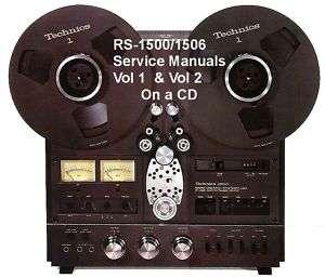 TECHNICS RS 1500US REEL TO REEL SERVICE MANUAL VOL 1 &2 |