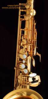 & CAZZANI R1 JAZZ ENGRAVED GOLD PLATED TENOR SAXOPHONE SAX
