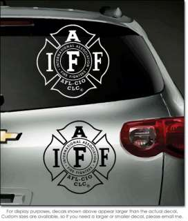 IAFF Fire Fighter Vinyl Window Decal/Bumper Sticker 8