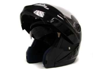 MODULAR MOTORCYCLE FLIP UP HELMET DUAL SHIELD SUN VISOR DOT ~L