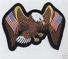 American United States USA Flags Eagle Patch 4x6 Biker