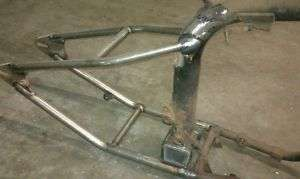 triumph oif weld on hardtail frame drop seat bobber tr6