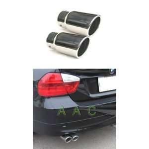 Two Stainless steel exhaust tips w/ mirror polish finish   BMW E90 3