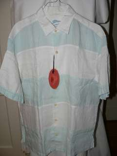 NEW TOMMY BAHAMA BLOCK OF SEAGULLS LINEN CAMP SHIRT XL NWT