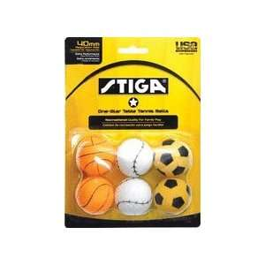 Stiga One Star Sport Table Tennis Balls