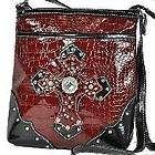 western red rhinestone concho cross messenger bag cross expedited